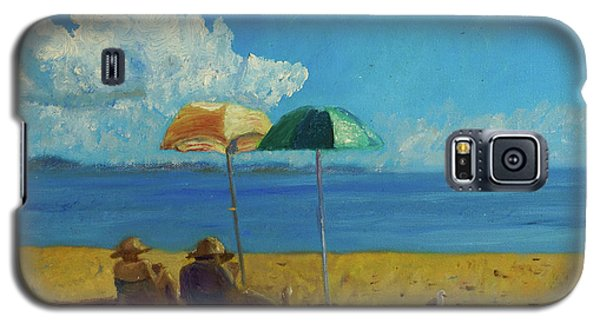Galaxy S5 Case featuring the painting A Vacant Lot - Byron Bay by Paul McKey