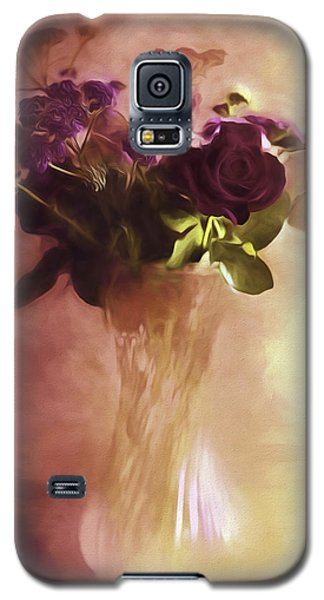 Galaxy S5 Case featuring the photograph A Vase Of Flowers Touched By The Morning Sun by Diane Schuster