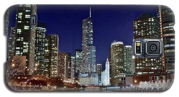 A View Down The Chicago River Galaxy S5 Case by Frozen in Time Fine Art Photography