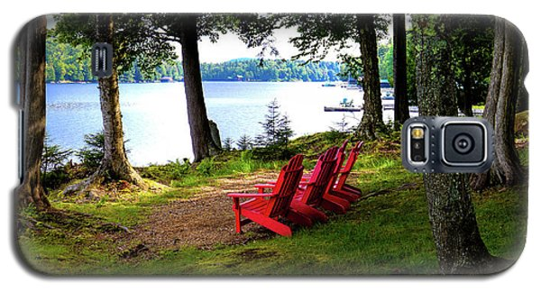 Galaxy S5 Case featuring the photograph A View Of Big Moose Lake by David Patterson