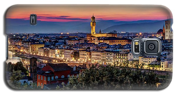 Galaxy S5 Case featuring the photograph A View Of Florence by Brent Durken