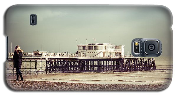 A Walk By The Pier Galaxy S5 Case by David Warrington