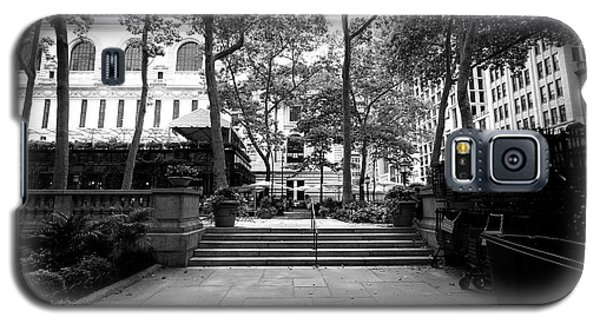 Galaxy S5 Case featuring the photograph A Walk Through Bryant Park by John Rizzuto
