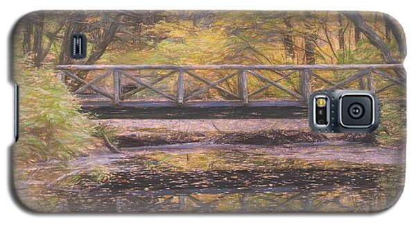 A Walking Bridge Reflection On Peaceful Flowing Water. Galaxy S5 Case