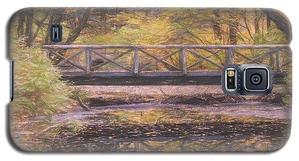 A Walking Bridge Reflection On Peaceful Flowing Water. Galaxy S5 Case