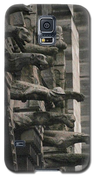 Galaxy S5 Case featuring the photograph A Wall Of Gargoyles Notre Dame Cathedral by Christopher Kirby