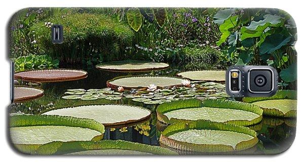 Galaxy S5 Case featuring the photograph A Water Garden by Byron Varvarigos