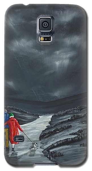 Galaxy S5 Case featuring the painting A Wee Bijou Strollette by Scott Wilmot