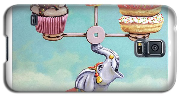 Galaxy S5 Case featuring the painting A Well-balanced Diet by Linda Apple