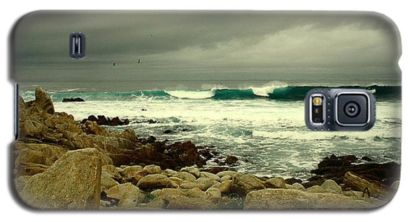 Galaxy S5 Case featuring the photograph A Winter Day At The Beach by Joyce Dickens
