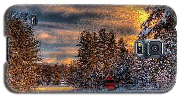 A Winter Sunset Galaxy S5 Case