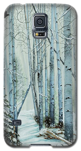 Galaxy S5 Case featuring the painting A Winter's Tale by Stanza Widen