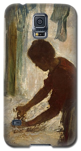 Galaxy S5 Case featuring the painting A Woman Ironing by Edgar Degas