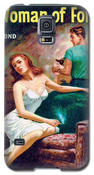 Galaxy S5 Case featuring the painting A Woman Of Forty by Bernard Barton