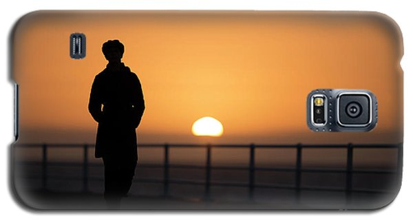 A Woman Silhouetted At Sunset Galaxy S5 Case