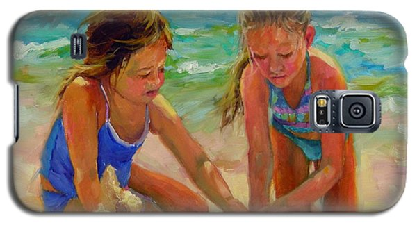 Galaxy S5 Case featuring the painting A World Of Their Own by Chris Brandley