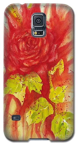 Galaxy S5 Case featuring the painting A Wounded Rose by Kathleen Pio