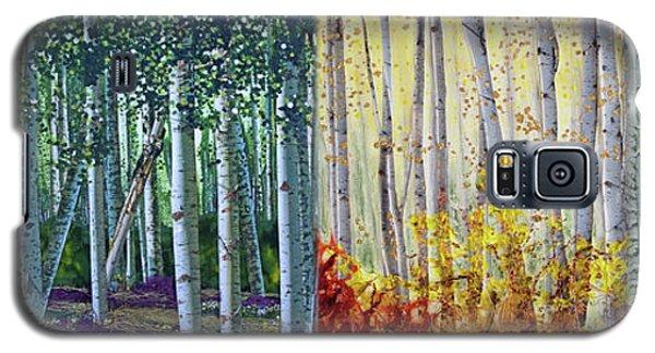 A Year In A Birch Forest Galaxy S5 Case