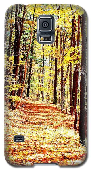 A Yellow Wood Galaxy S5 Case by Joshua House