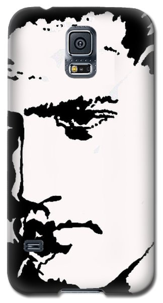 Galaxy S5 Case featuring the drawing A Young Elvis by Robert Margetts