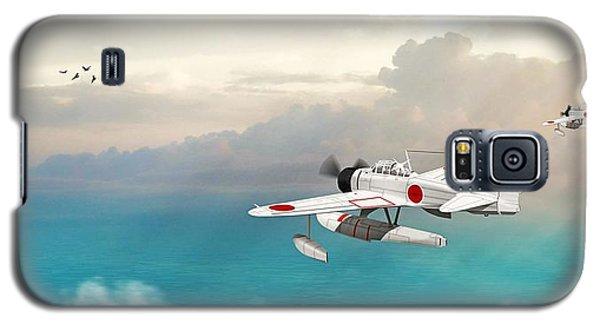 Galaxy S5 Case featuring the digital art A6m2-n Sea Plane by John Wills