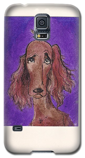 a7  Christmas Setter Galaxy S5 Case by Charles Cater