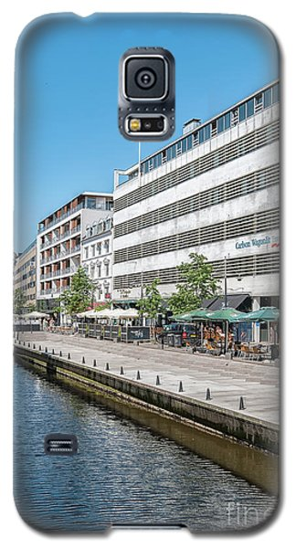 Galaxy S5 Case featuring the photograph Aarhus Canal Scene by Antony McAulay