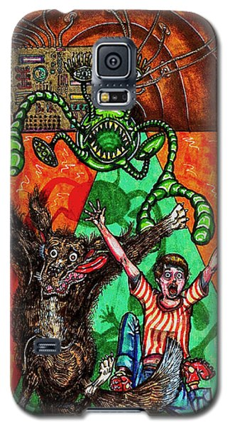 Aarron And Spacedog Chased By An Alien Galaxy S5 Case