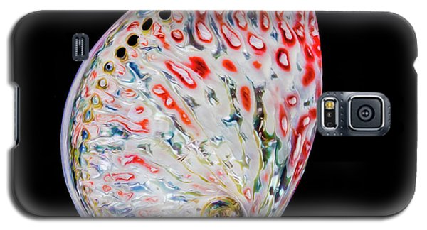Galaxy S5 Case featuring the photograph Abalone - Touches Of Red by Rikk Flohr