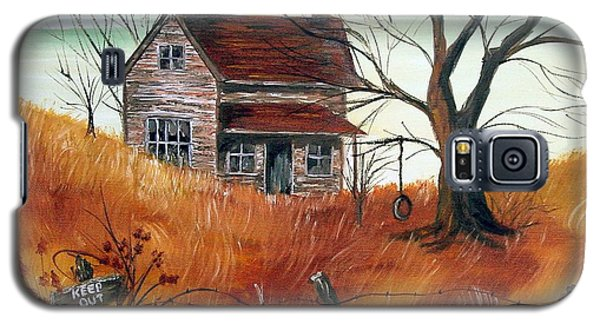 Galaxy S5 Case featuring the painting Abandoned Farmhouse by Quwatha Valentine