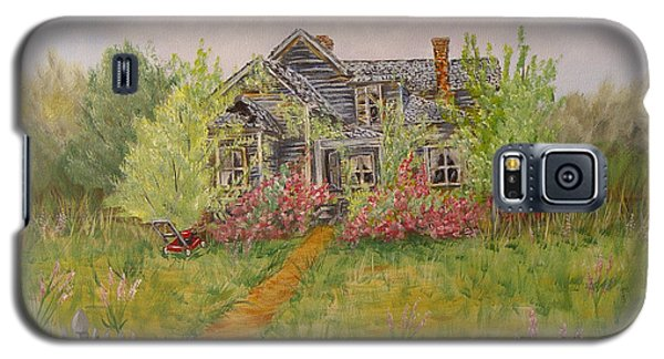 Galaxy S5 Case featuring the painting Abandoned House by Quwatha Valentine