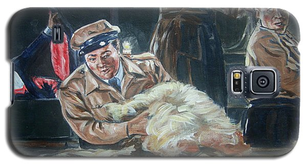 Galaxy S5 Case featuring the painting Abbott And Costello Meet Frankenstein by Bryan Bustard