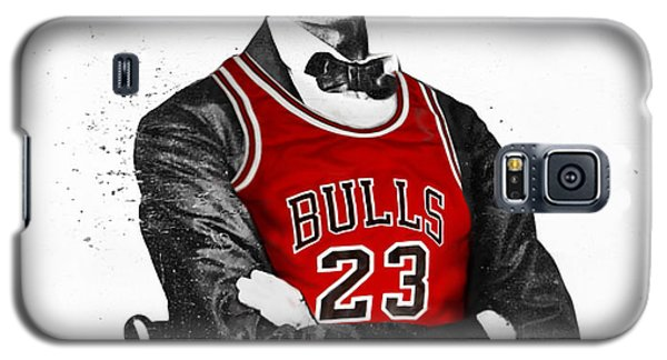 University Of Illinois Galaxy S5 Case - Abe Lincoln In A Michael Jordan Chicago Bulls Jersey by Rolyo