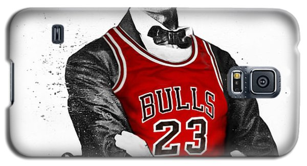 City Scenes Galaxy S5 Case - Abe Lincoln In A Michael Jordan Chicago Bulls Jersey by Roly O