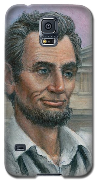 Galaxy S5 Case featuring the painting Abe's 1st Selfie - Detail by Jane Bucci