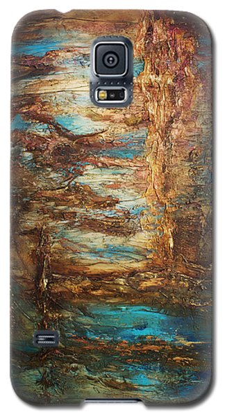 Galaxy S5 Case featuring the painting Lagoon by Patricia Lintner