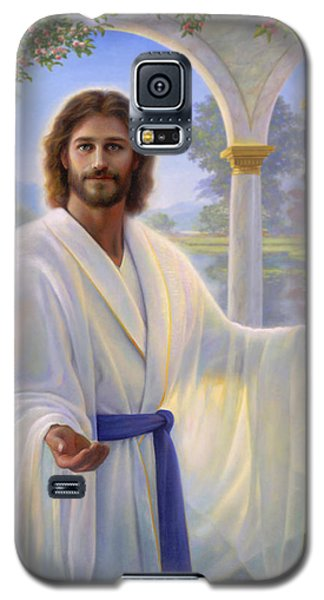 Abide With Me Galaxy S5 Case by Greg Olsen