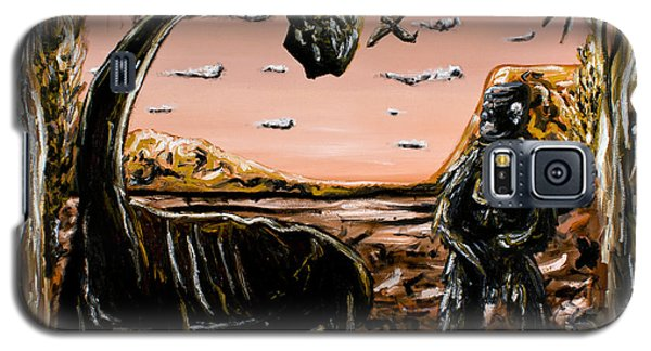 Galaxy S5 Case featuring the painting Abiogenesis  by Ryan Demaree
