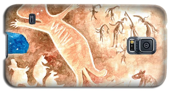 Galaxy S5 Case featuring the painting Aboriginal  by Andrew Gillette