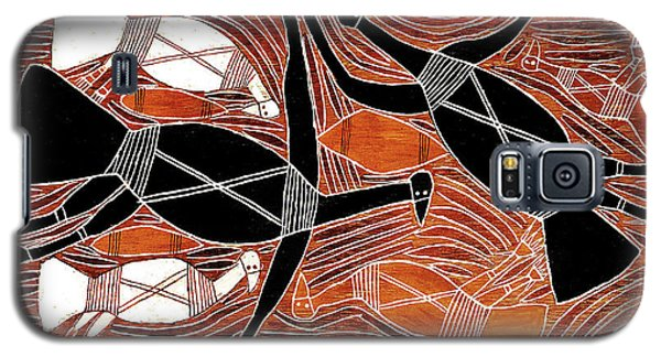 Aboriginal Birds Galaxy S5 Case