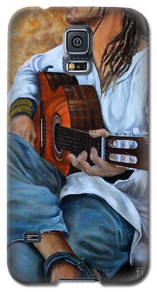 Galaxy S5 Case featuring the painting About The Music 2 by Anna-maria Dickinson