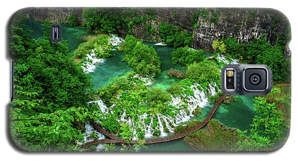 Above The Paths And Waterfalls At Plitvice Lakes National Park, Croatia Galaxy S5 Case