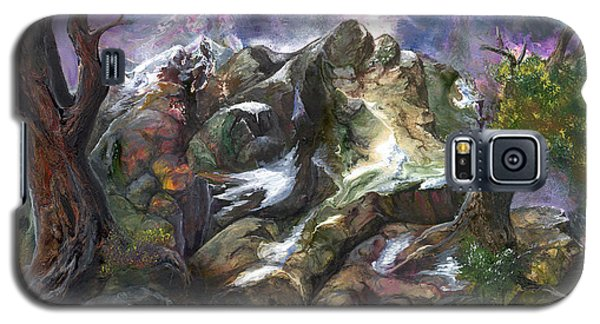Galaxy S5 Case featuring the painting Above The Timberline by Sherry Shipley
