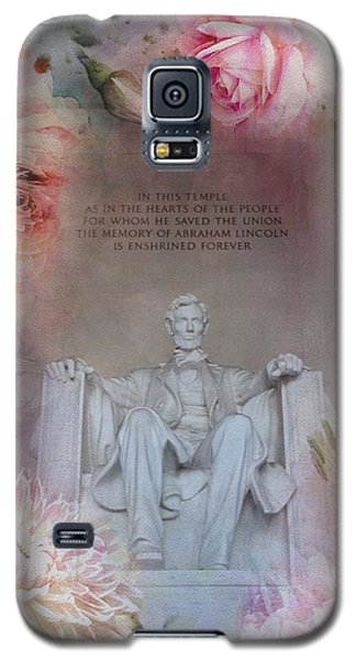 Lincoln Memorial Galaxy S5 Case - Abraham Lincoln Memorial At Spring by Marianna Mills
