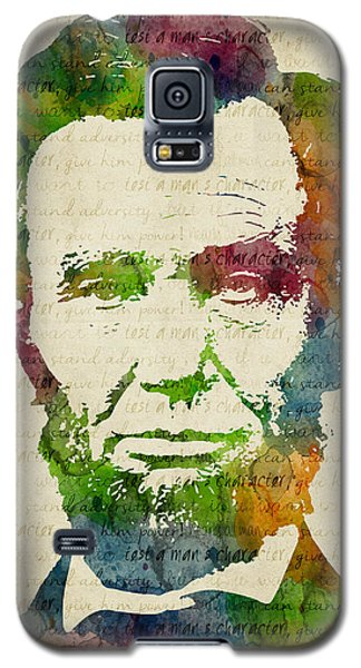 Abraham Lincoln Watercolor Galaxy S5 Case by Mihaela Pater