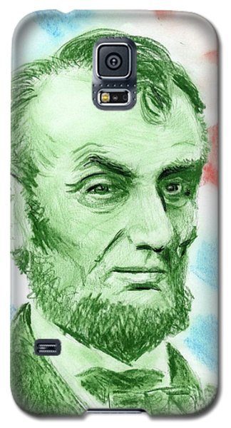 Galaxy S5 Case featuring the drawing Abraham Lincoln  by Yoshiko Mishina