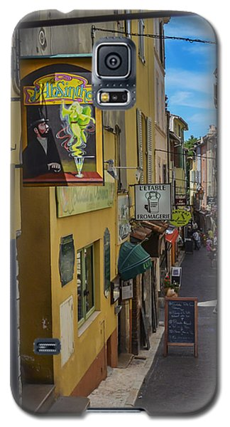 Galaxy S5 Case featuring the photograph Absinthe In Antibes by Allen Sheffield