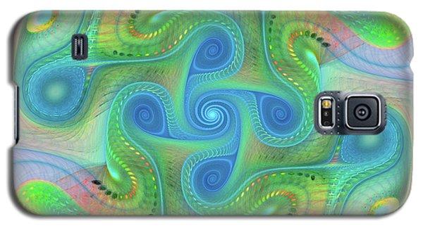 Galaxy S5 Case featuring the digital art Abstract Gnarl by Deborah Benoit