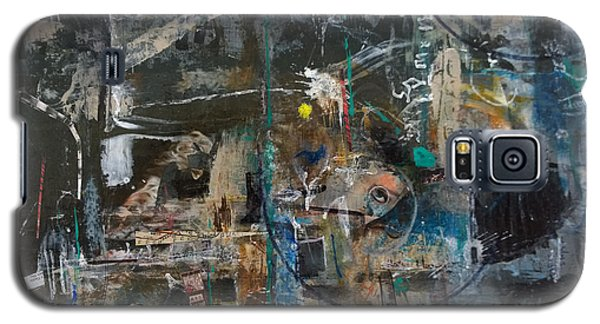 Galaxy S5 Case featuring the painting Abstract #101414 - Fendi by Robert Anderson