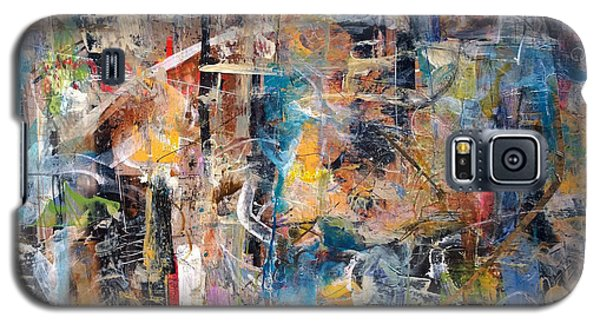 Galaxy S5 Case featuring the painting Abstract #101514 by Robert Anderson